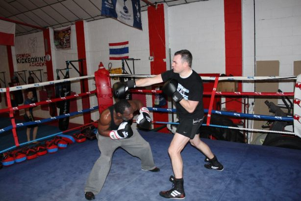 Sparring at Midas Boxing & Fitness