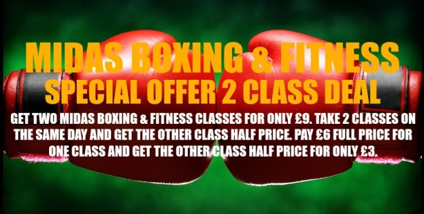 BOXING GLOVES 3 OFFER LOGO