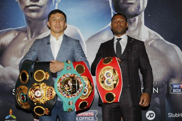 BROOK V GOLOVKIN PRESS CONFERENCEDORCHESTER HOTEL,LONDONPIC;LAWRENCE LUSTIGWORLD MIDDLEWEIGHT TITLEGENNADY GOLVKIN AND KELL BROOK  GET TOGETHER TO ANNOUNCE THE FIGHT FOR THE WBA,WBC,IBF AND IBO MIDDLEWEIGHT TITLES AT THE O2 LONDON ON SEPTEMBER 10TH